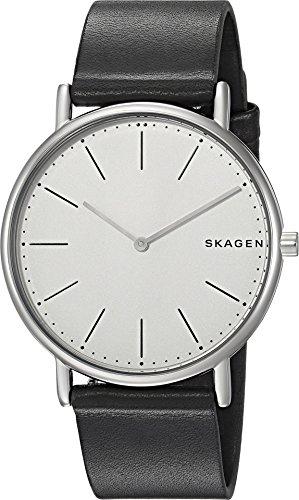 Skagen Titanium Watch - Skagen Men's 'Signatur' Quartz Titanium and Leather Casual Watch, Color:Black (Model: SKW6419)