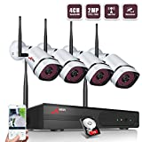 Wireless Security Camera System,ANRAN Full HD 4CH 1080P Wireless Video Security System with 1TB HDD(WIFI NVR KIT),4pcs 1080P Indoor Outdoor Wireless IP Cameras,P2P,65ft Night Vision,Easy Remote View