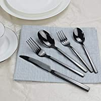 Amazon.com: Utiao - Juego de cubiertos de acero inoxidable ...