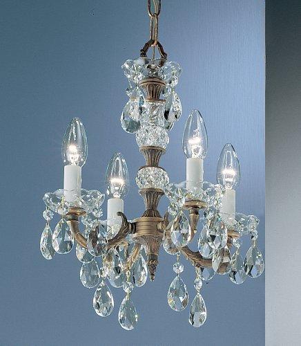 Classic Lighting 5534 RB S Madrid, Crystal Cast Brass, Mini-Chandelier, 13