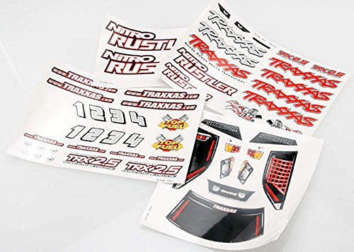 Traxxas 4413X Decal Sheets Nitro (Traxxas Decal Sheet)