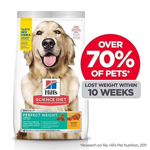 Hill's Science Diet Dry Dog Food Adult, Perfect Weight for Weight Management, Chicken Recipe