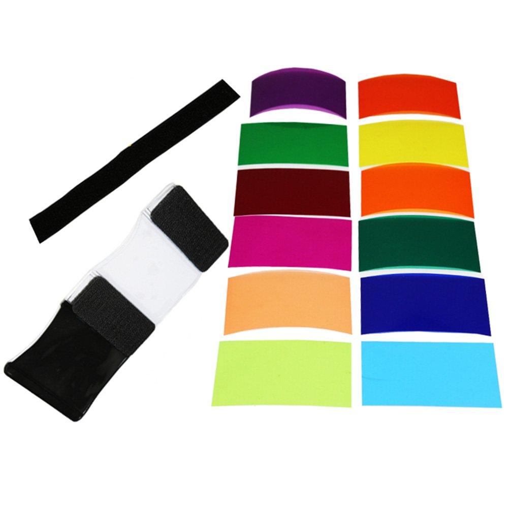 Fomito Universale Flash Riflettore Diffusore 12 pz flash Colore Gel Kit Filtro