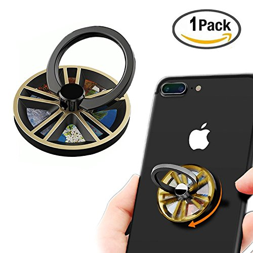 Phone finger ring holder/ Spinner Fidget gyro ring stand/mobile cell phone ring grip stand holder Car Mount for iPhone 6s plus/ 7 plus, Samsung Galaxy S7 edge Smartphone Tablet gyro phone ring - Spinner Mobile