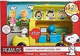 Peanuts Charlie Brown School Bus Playset