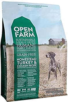 Open Farm Homestead Turkey Chicken Recipe Sustainable Organic Dog Food 12 lbs