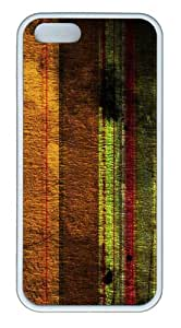 Apple iPhone 5S Cases - Scratched Stripes TPU Case Cover for iPhone 5S and iPhone 5 - White