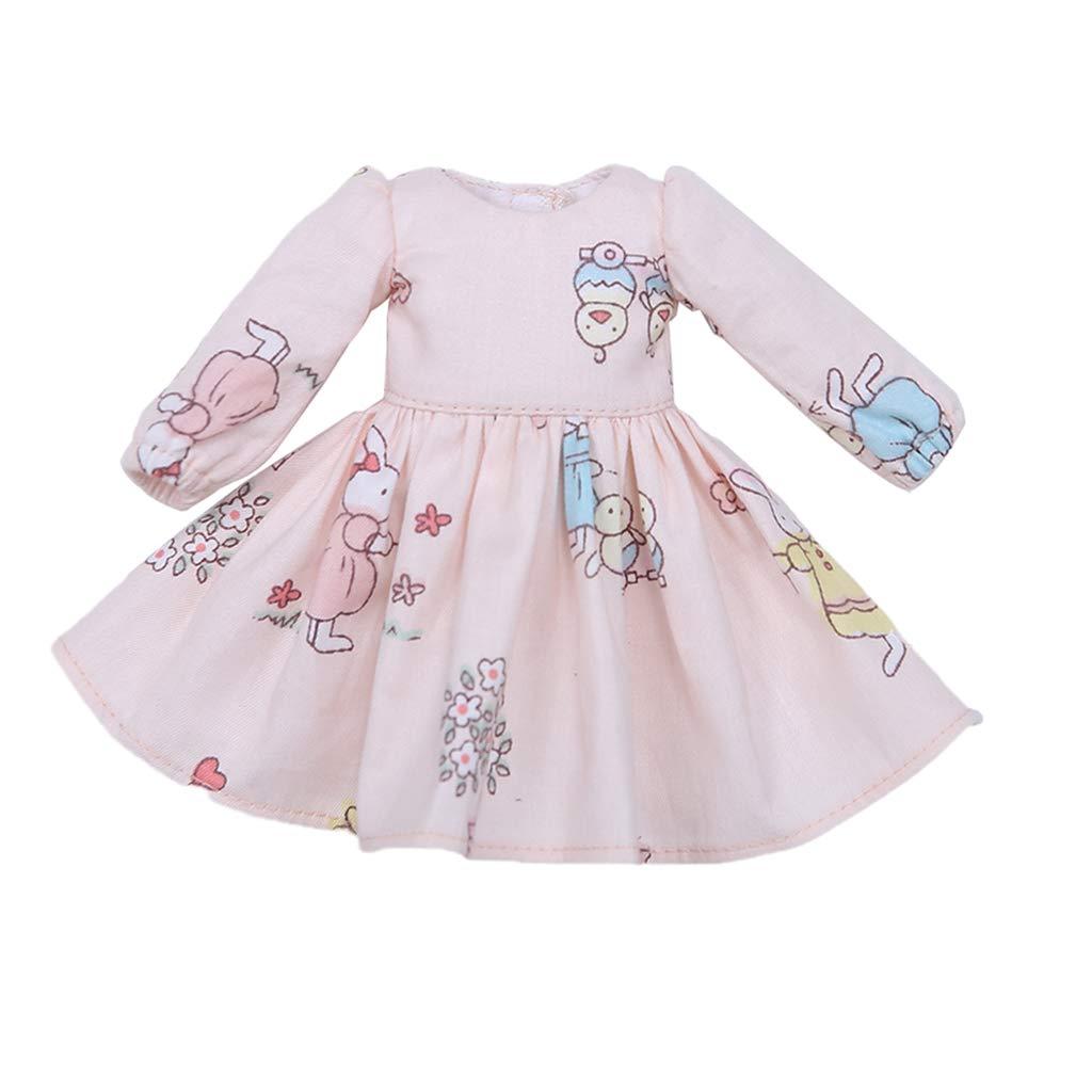 KESOTO Small Fresh Style Long Sleeve Dress Skirt Clothe for 1//6 BJD DOD MSD DZ Volks Accessories