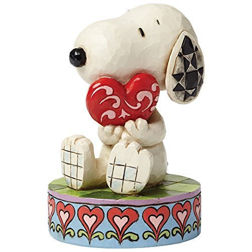 Jim Shore Peanuts Snoopy Valentine's Day Holding Heart Collectible Figure