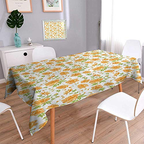 Liprinthome Water Resistant Tablecloth Sand From Window Of Spain ach Distant Hill Plants Sand Touristic Bathroom Great for Buffet Table, Parties, Holiday Dinner, Wedding & More/52W x 70L Inch by Liprinthome