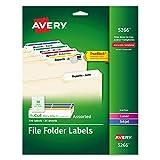 Avery Permanent Asstd. Laser/Inkjet Filing Labels