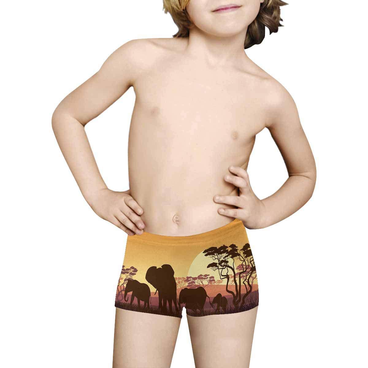 INTERESTPRINT Kids ComfortSoft Printed Boxer Briefs 5T-2XL