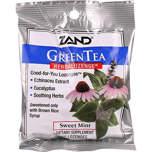 Zand Counter Display - Herbal Supplement - HerbaLozenge - Green Tea with Echinacea - 15 lozenges - case of 12 (Herbal Lozenge Green Tea)
