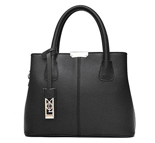 Handbags Women Bags Messenger Bag Pu Leather Bag Simple Elegant Fashion Handbag Ladies Handbags Black Bag Black