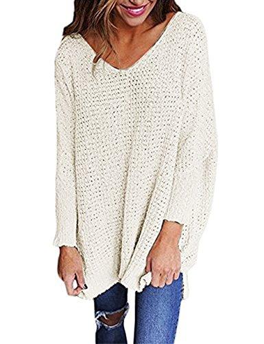 (Steven McQueen Women's Oversized Tops US 0-14 Pullover Sweaters White XL/US 12-14)