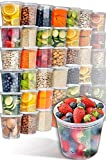 #9: [48 Pack, 24oz] Clear Plastic Containers With Lids - Deli Containers With Lids Plastic Food Containers - Freezer Containers Meal Prep Containers for Food - Food Storage Containers by Prep Naturals