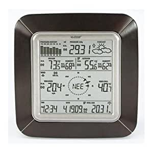 La Crosse Technology WS-2811BRN-IT Professional Weather Center with Solar Wind Sensor