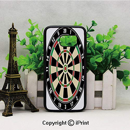 Dart Board Numbers Sports Accuracy Precision Target Leisure Time Graphic Samsung S7 Case for Girls Women Hard Back Shock Drop Proof Impact Resist Protective Case for Samsung S7 Vermilion Green Black
