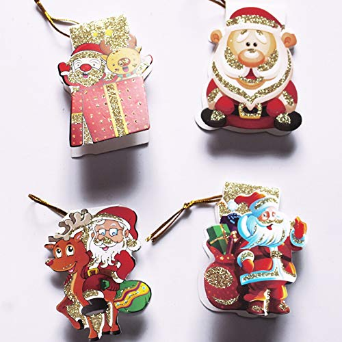 SUHAPPY Santa Claus Christmas Tree Decoration Pendant Card Home Garden Festive Party Supplies from SUHAPPY