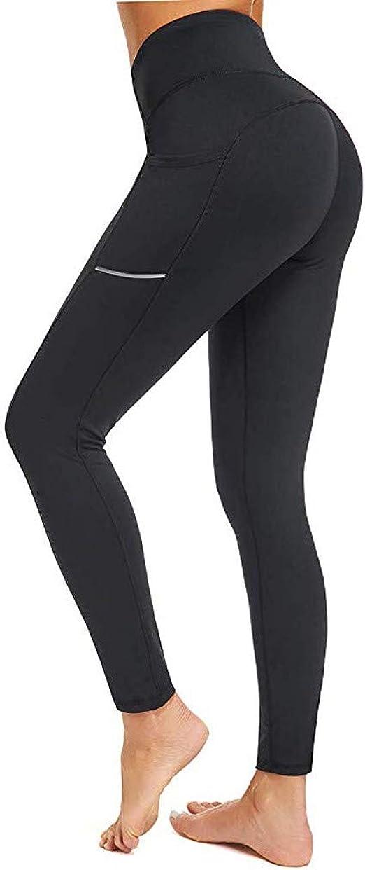 PLENTOP 2020 Ladies High Waisted Solid Yoga Leggings