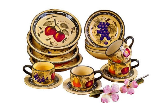 Amazon.com | Tuscany Mixed Fruit 16 Piece Dinnerware Set Tscany Fruit Dinnerware Dinnerware Sets  sc 1 st  m.amazon.com & Amazon.com | Tuscany Mixed Fruit 16 Piece Dinnerware Set: Tscany ...