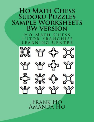 Counting Number worksheets math picture worksheets : Ho Math Chess Sudoku Puzzles Sample Worksheets BW version: Frank ...