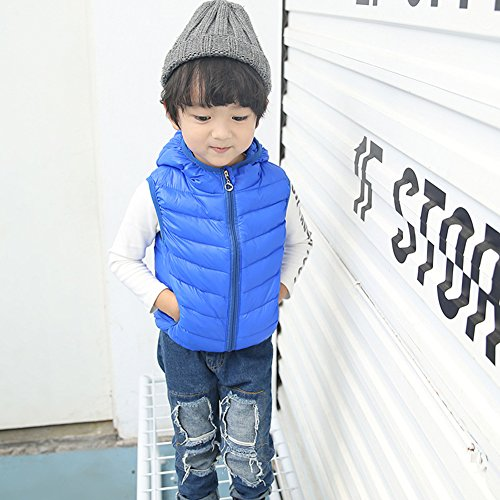 Royalblue Hooded Children Outwear Chic Jacket Vest Winter Lemonkids;® Kids Lightweight Z7qZz