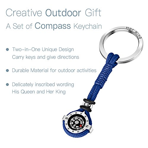 Novelty Compass Keychain for Outdoor Enthusiast, Stylish & Practical, Quality Compass for Hiking, Camping, Luxurious Packaging, Outdoor Gift for outdoorsman, Gift for Hikers, Campers, for Backpackers by DAYHAO (Image #2)
