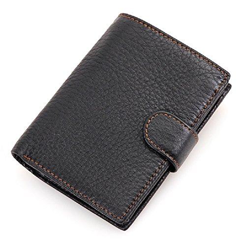 78520a606aa2a Johnson   Sookie mens Brown Leder Geldbörse mit Münze Tasche Portemonnaie  Leder Querformat  Rfid ...