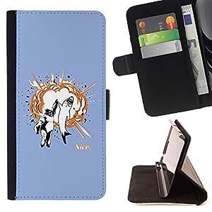 Momo Phone Case / Flip Funda de Cuero Case Cover - Gorila & Shark Explosión;;;;;;;; - HTC One M9