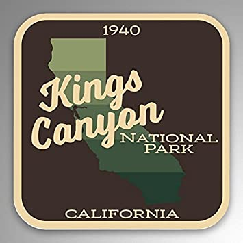 2-Pack Kings Canyon National Park Decal Sticker4.7-Inches By 4.4-Inches