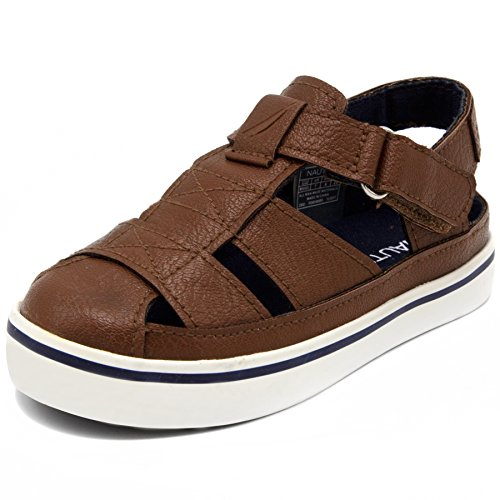 Nautica Kids Mikkel Closed-Toe Outdoor Sport Casual Sandals-Brown Pebbled-9 (Gold Earrings For Baby Girl In Indian)