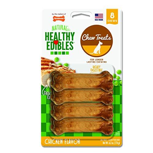 - Nylabone Healthy Edibles Petit Chicken Flavored Dog Treat Bones, 8 Count