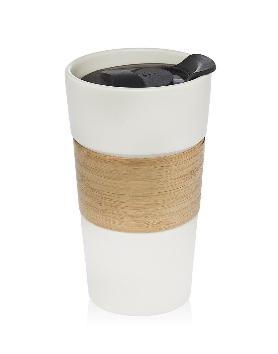 Godinger真空断熱旅行水ボトル| leak-proof二重壁ステンレススチールCola形状ポータブル水ボトル| no Sweating、Keeps Your Drink Hot & Cold | 17 oz ( 500 ml ) B06XPBPD44 White Porcelain Mug White Porcelain Mug