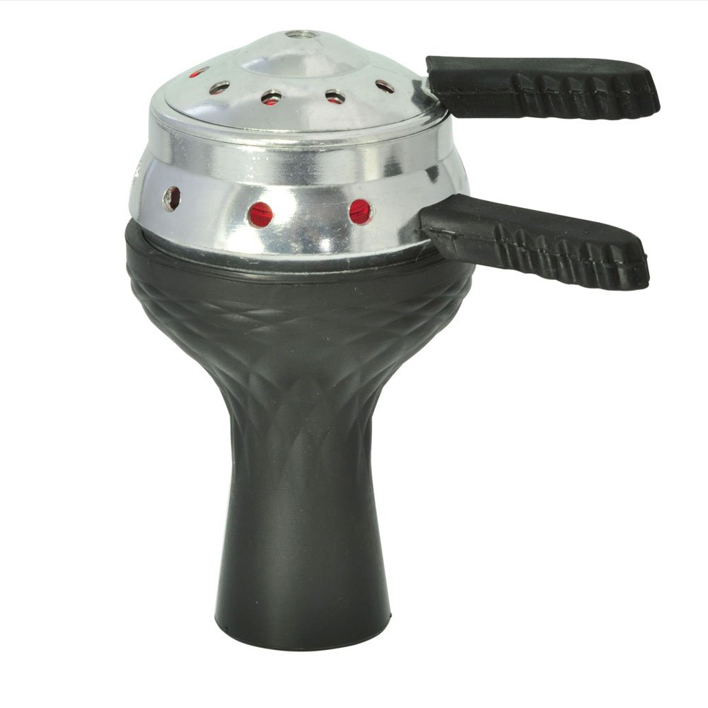 Hookah Bowl Set - 7Holes Silicone Hookah Bowl + Lotus Charcoal Holder Shisha Heat Management Charcoal Funnel Box Burner with Wind Cover Smoking Accessory