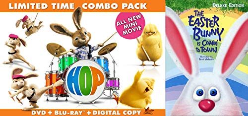 (Candy Chicks & Rock n' Holiday Spring 2-Movie Bundle - Hop Combo DVD & Blu Ray with Mini Movie + The Easter Bunny is Comin' To Town Deluxe Edition Stop Motion Gallery Express Bundle 2 Fun Pack)