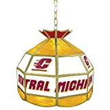 NCAA Central Michigan University Tiffany Gameroom Lamp, 16''