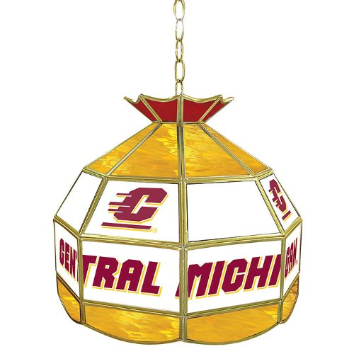 NCAA Central Michigan University Tiffany Gameroom Lamp, 16'' by Trademark Gameroom