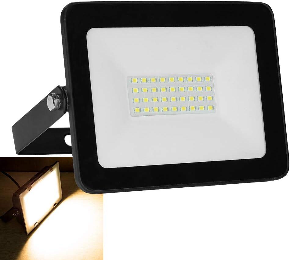 Foco LED de 30 W para interior y exterior, 2400 lm, IP65 ...