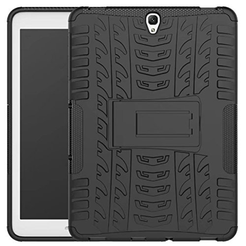 Price comparison product image Galaxy Tab S3 9.7 Case, DAMONDY Shockproof Hybrid Tough Rugged Dual Layer Defender Full Body Protective Tablet Case Cover with Kickstand for Samsung Galaxy Tab S3 9.7 SM-T820 -black