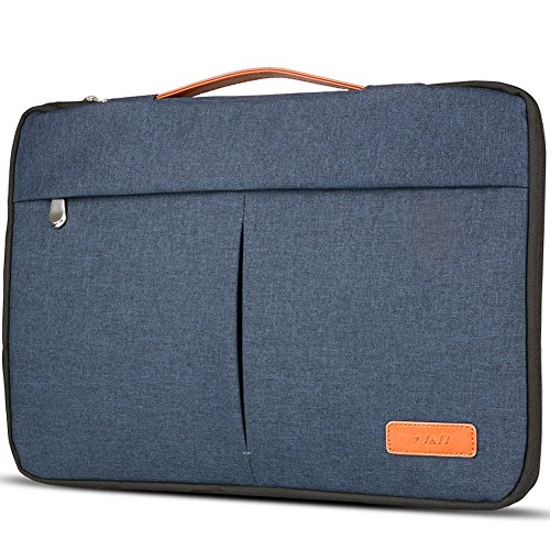 Stylish Laptop Sleeve Bag, J&D Premium Lightweight Portable Protective Sleeve Bag for Surface Laptop, Surface Book, New MacBook Pro 13'', MacBook Pro 13'' and Other Laptops under 14 inch – Denim Blue