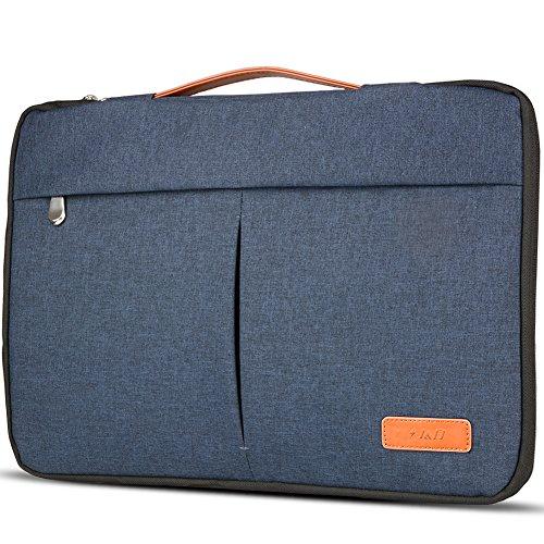 Stylish Laptop Sleeve Bag, J&D Premium Lightweight Portable Protective Sleeve Bag for Surface Laptop, Surface Book, New MacBook Pro 13'', MacBook Pro 13'' and Other Laptops under 14 inch – Denim Blue
