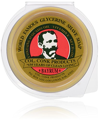 Col. Conk Bay Rum Shaving Soap 3.75 Ounce Large (Colonel Conk Mug Shave)