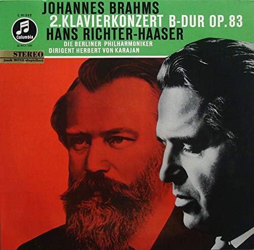 Johannes Brahms, Hans Richter-Haaser, Berliner Philharmoniker, Herbert von  Karajan - Brahms: 2. Klavierkonzert B-Dur Op. 83 - Columbia - C 91 052,  Columbia - 33 WCX 1680: Johannes Brahms , Hans Richter-Haaser ,