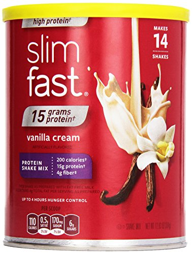 SlimFast High Protein shake à la vanille crémeuse Mix, 12,83 once trois comptage