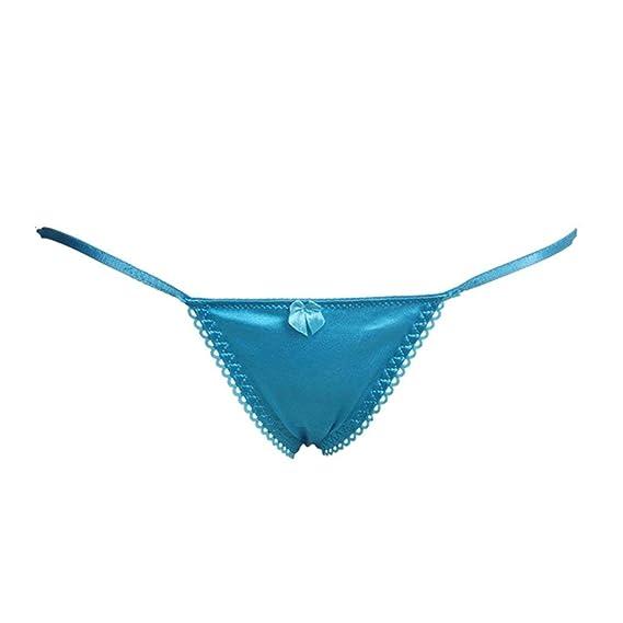 Luckycat Mujer Atractiva Entrepierna Abierta Tangas G-String V-String Bragas Ropa Interior Ajustable: Amazon.es: Ropa y accesorios