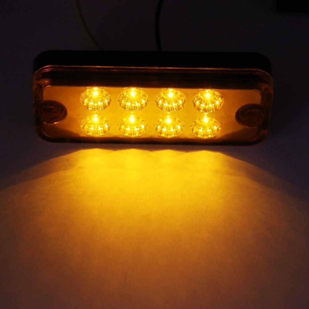 Feu de gabarit BiuZi 6pcs 8 LED Signal Feux de gabarit for feux de rechange Jaune