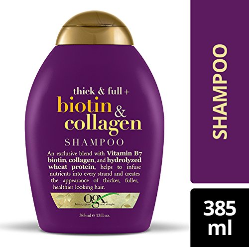 OGX with Collagen, 13 Ounce Bottle, Free, Sustainable Ingredients, and Strengthening