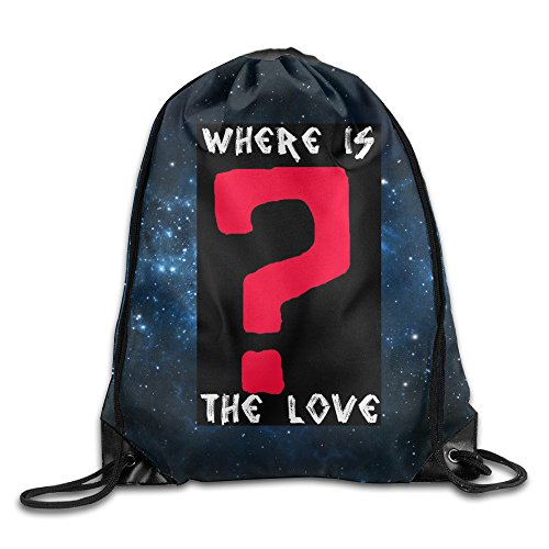 Price comparison product image Black Eyed Peas Where Is The Love Drawstring Backpack ,Travel Sport Bag For Men Women Girl Boy, Tote Bags