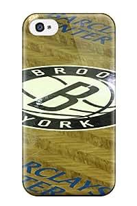 For Iphone 4/4s Tpu Phone Case Cover(brooklyn Nets Nba Basketball (9) )